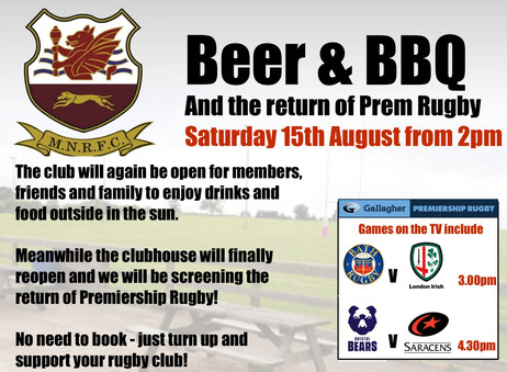 Beer, BBQ and Rugby