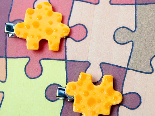 """""""Swiss"""" Puzzle Piece Hair-Clips (2-Pack)"""