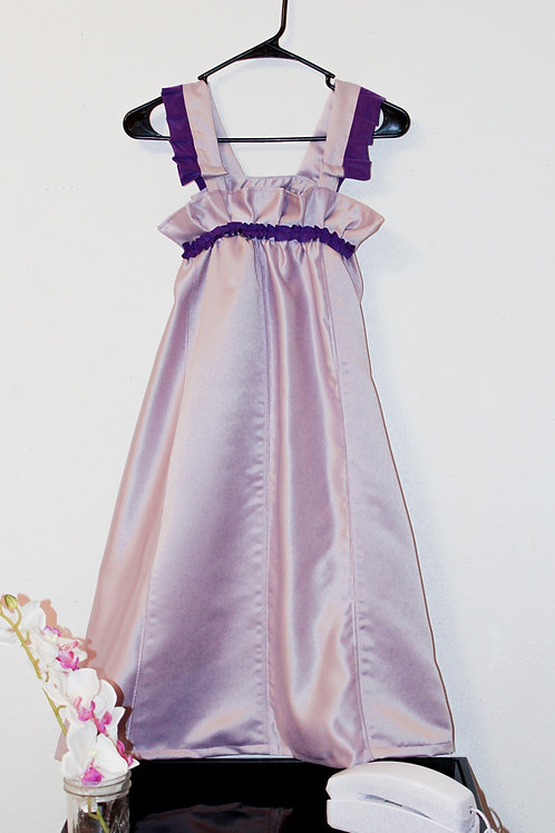 """Grand Violet"" Tent Overall Dress"