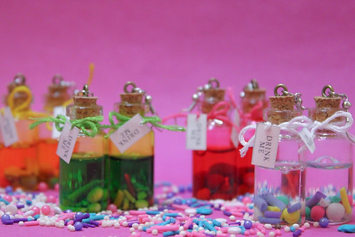 'Drink Me' Potion Earrings