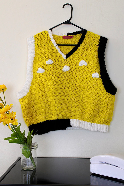 """""""A Good Day"""" Crocheted Vest"""