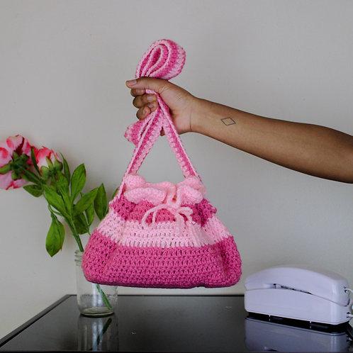 """""""Cupcake"""" Crocheted Bucket Bag"""