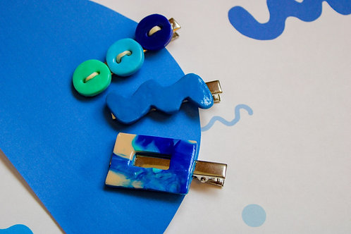 """""""It Pours"""" Hair-clips (3-Pack)"""