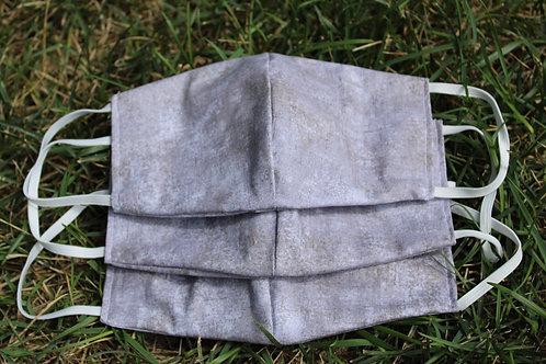 Grey Stone Face Mask