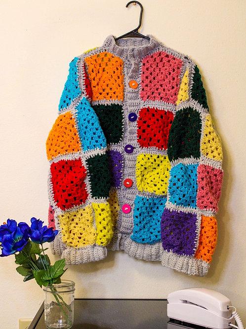 Crocheted Oversized Sweater