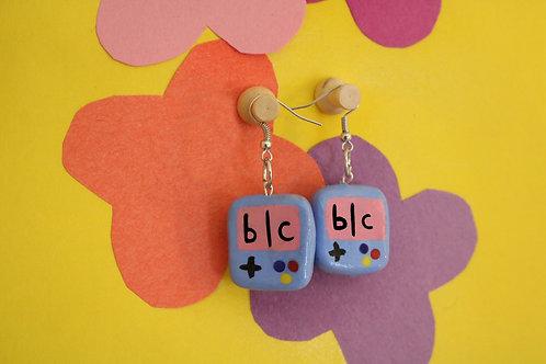 b   c Video Game Earrings