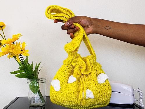 """""""Sunshine"""" Crocheted Bucket Bag"""
