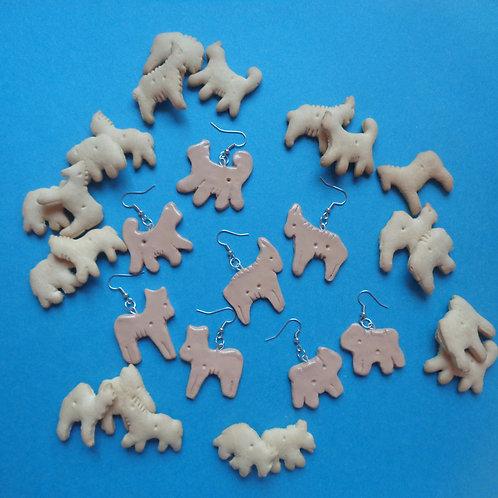 Animal Cracker Earrings