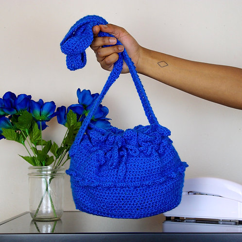 """Blueberry"" Crocheted Bucket Bag"