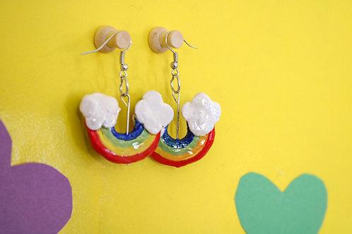 Down-Side Up Rainbow Earrings