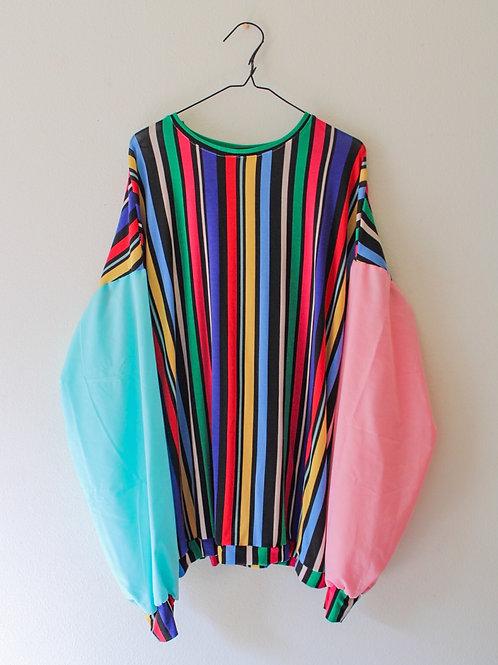 Oversized Color Block Shirt