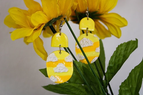 Yellow Clouds Earrings