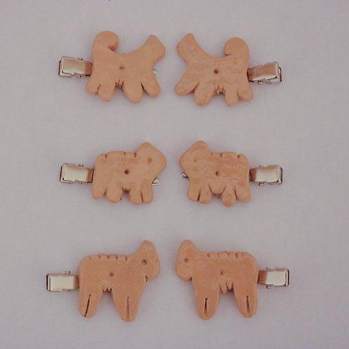 Animal Cracker Hair Clips (2-Pack)