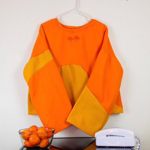 """Apricot Orange"" Kolor-Blocked Shirt"
