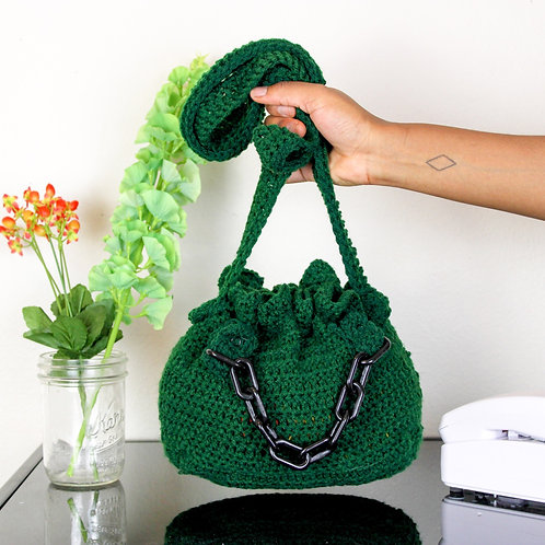 """Poison"" Crocheted Bucket Bag"