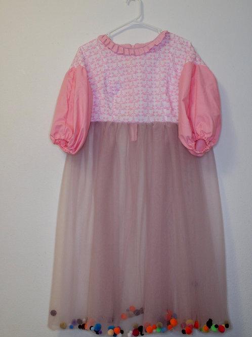 """Pretty In Pink"" Long Shirt Dress"