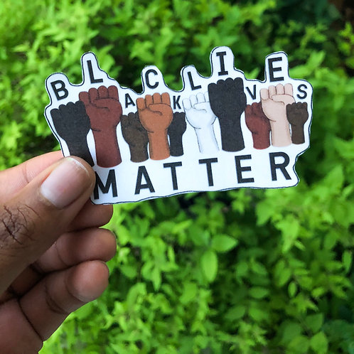 """Black Lives Matter"" Fists Sticker"