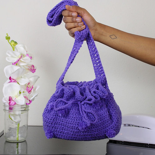 """Grape"" Crotched Bucket Bag"
