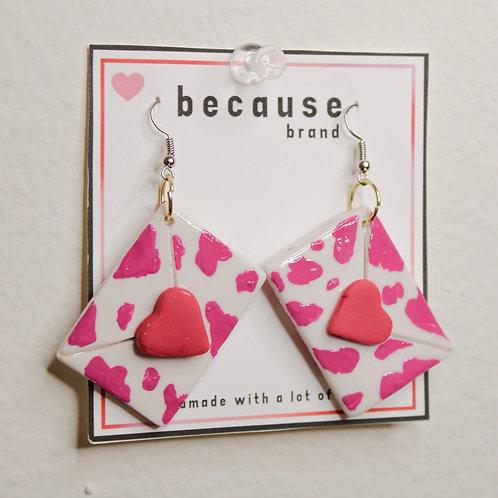 Cow Mail Earrings