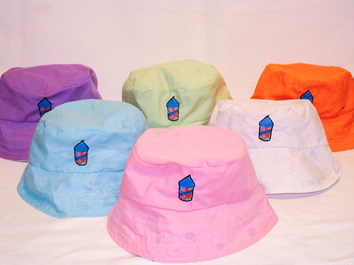 Reversible Printed Bucket Hat with Slushy Patch