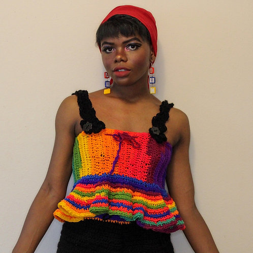 Crocheted Baby-doll Top