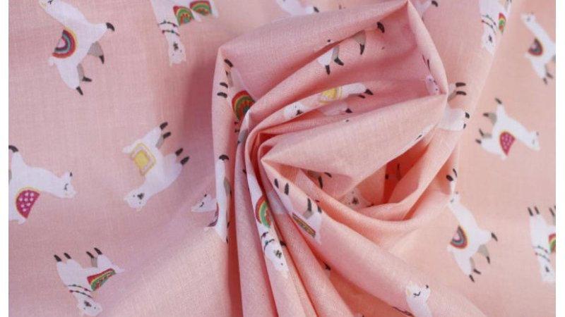Pink Lama Polycotton