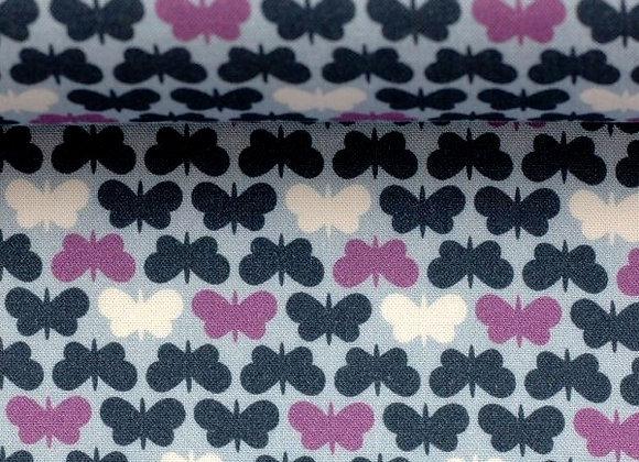 Viskose Webware  -Swafing-Butterflys- blau lila Schmetterlinge