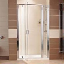 800 Pivot Shower Door + Tray