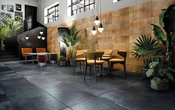 Diesel Alurock tiles in Restaurant setti