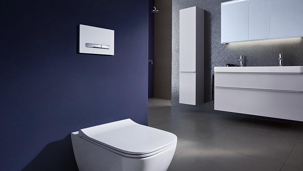 Geberit Wall-Mount Toilet & Frame Set 1
