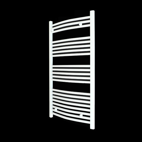 White Curved Heated Towel Rail