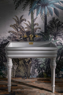 Shevington Console Basin with Wall Hung Brassware