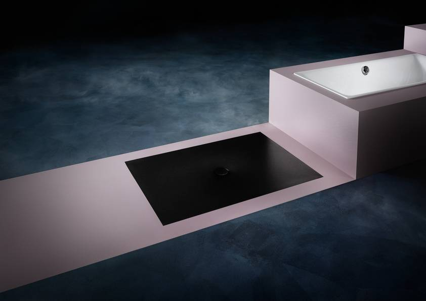 black shower tray