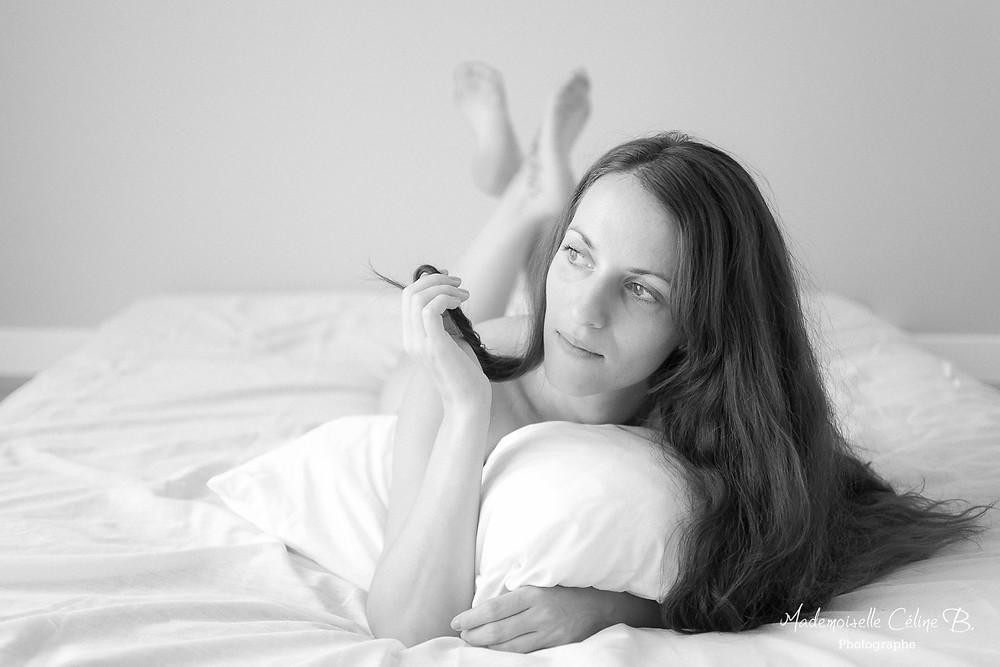 Mademoiselle Céline B. Photographe Portrait femme intime