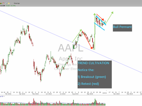 [MEMBERS UPDATE] $AAPL  Bullish Pennant Breakout Underway.  Optimistic But Readiness @ Onset of Any