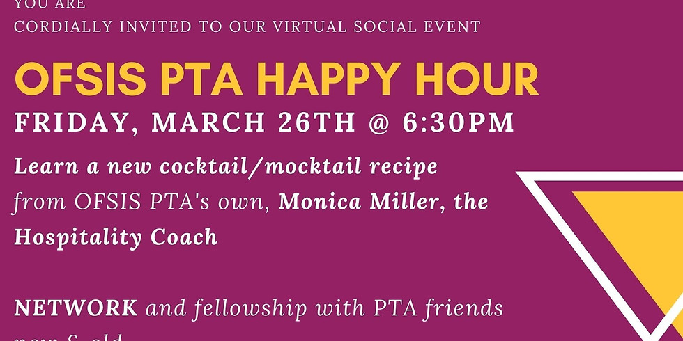 Virtual Social Event - PTA Members Happy Hour
