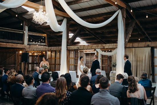 Indoor Ceremony Garret and Alex Leah Flo