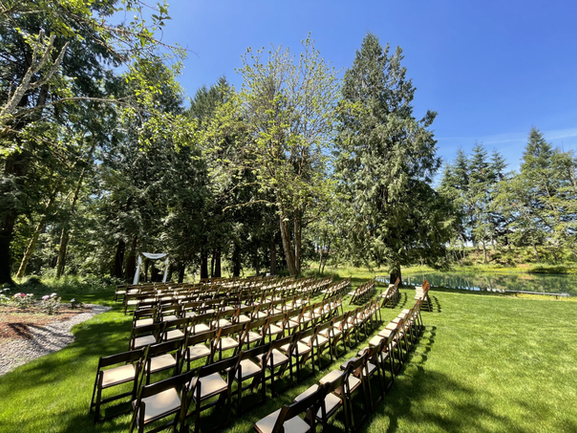 Ceremony Lawn by the Lake Springwater La