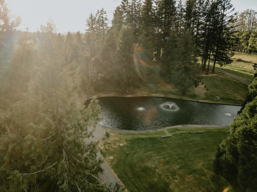 Springwater Lakes Estate Upper Lake with