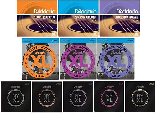 D'Addorio Nickel Wound Guitar Strings