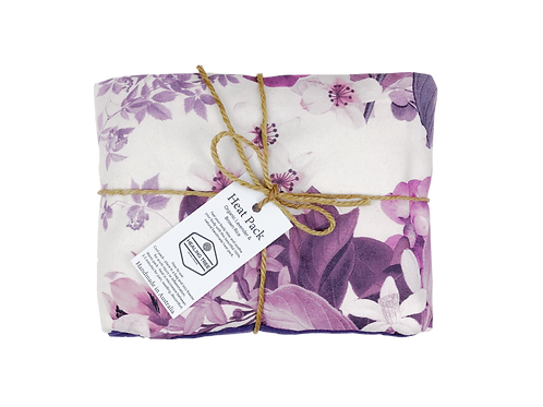 Large Heat Pack - Floral Purple