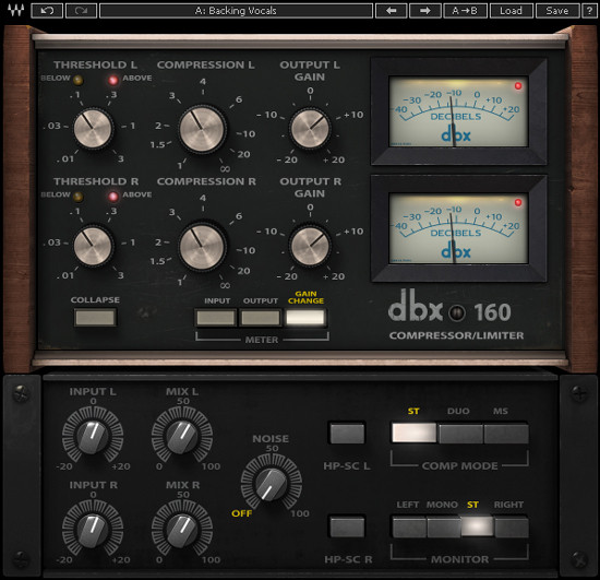 dbx 160 Waves Audio plug-in version