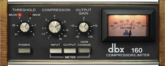 dbx 160 Universal Audio plug-in version