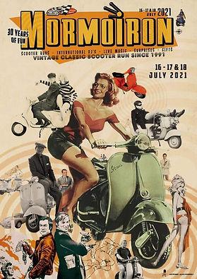 flyer 30ème Vintage Classic Scooter Run de Mormoiron