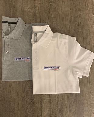 polo-logo-lambretta-club-france-couleur-blanc-gris