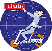 logo lambretta club france badge scooter