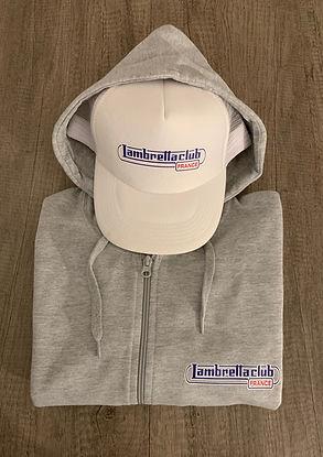 sweat-capuche-zippé-lambretta-club-france-avec-poches-couleur-gris