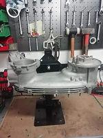 support moteur avec moteur lambretta li en position horizontale