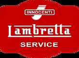 plaque publicitaire concessionnaire lambretta innocenti service scooter