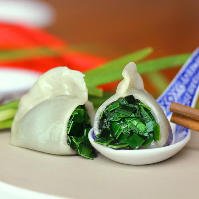Ku chai kueh 韭菜饺子
